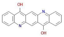 Pigment-violett-19 molekylstruktur